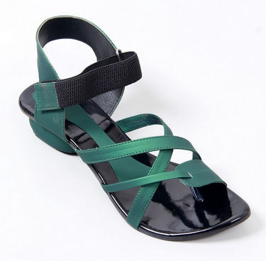 Branded Synthetic Leather Sandals 222A -Green