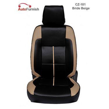 Autofurnish (CZ-101 Bride Beige) Fiat Linea Leatherite Car Seat Covers-3001046