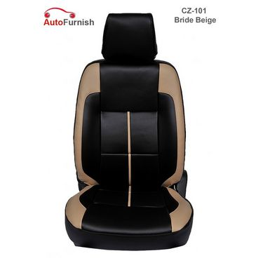 Autofurnish (CZ-101 Bride Beige) Toyota Innova (2005-09) Leatherite Car Seat Covers-3001237