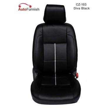 Autofurnish (CZ-103 Diva Black) Chevrolet Aveo Yuva 2007-13 Leatherite Car Seat Covers-3001484