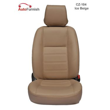 Autofurnish (CZ-104 Ice Beige) Fiat Polo Leatherite Car Seat Covers-3001738