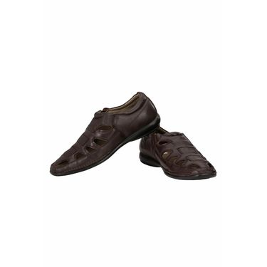 Delize Leather Sandals 3005-Brown