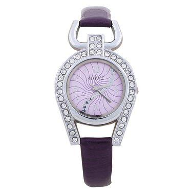 Adine Round Dial Analog Wrist Watch For Women_37pp04 - Purple