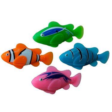 Set Of 4 Clownfish Water Sensitive Robot Fish For Kids Aquarium