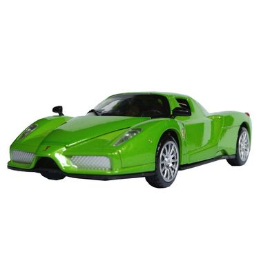 1:28 Scale Green Die-Cast Future Concept Sports Car Toy Model