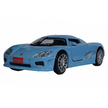 1:28 Scale Blue Die-Cast Retro Concept Sports Car Toy Model