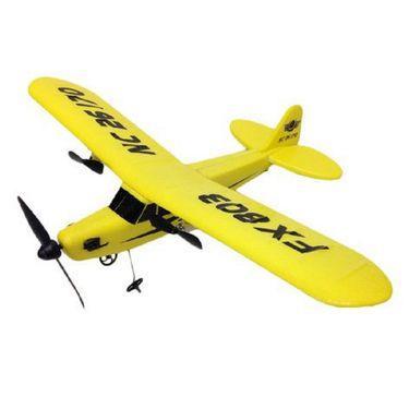 AdraxX RC Super Glider FX-803 Plane Toy - Yellow