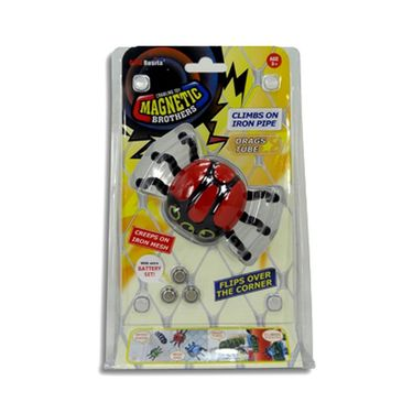 AdraxX Crawling Magnetic Insect Toy - Red