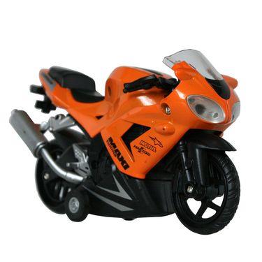 Little Stunts Die Cast Metal Toy Bike For Young Kids - Orange