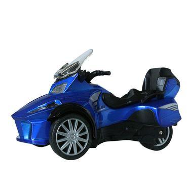 3-Wheel ATV Die Cast Metal Bike Toy For Growing Kids - Blue