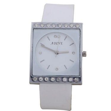 Adine Square Dial Analog Wrist Watch For Women_47ww024 - White