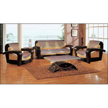 Handloom Trendz 5 Seater Geometrical Sofa Slip Covers