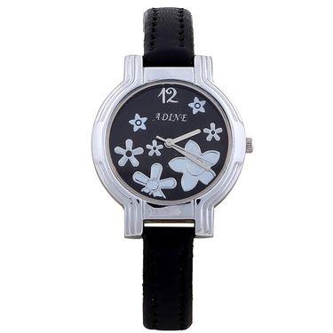 Adine Round Dial Analog Wrist Watch For Women_51bb030 - Black