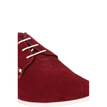 Delize Suede Leather Casual Shoes 7751-Cherry