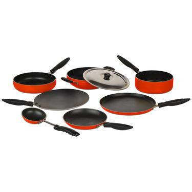 8 Pcs Coloured Non Stick Cookware Set - New