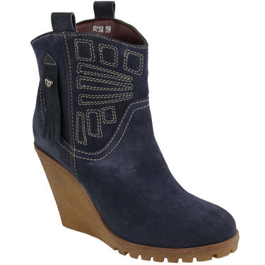 Delize Suede Leather Boot 8036-Blue