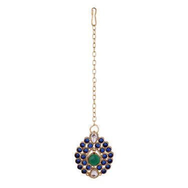 Vendee Fashion Stylish Necklace Set - Blue & Green