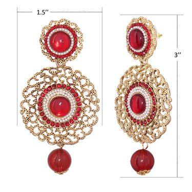 Vendee Fashion Stylish Earrings - Maroon