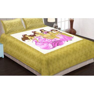 Set of 6 King Size Cotton Jaipuri Sanganeri Printed Bedsheets With 12 Pillow Covers-B6C5
