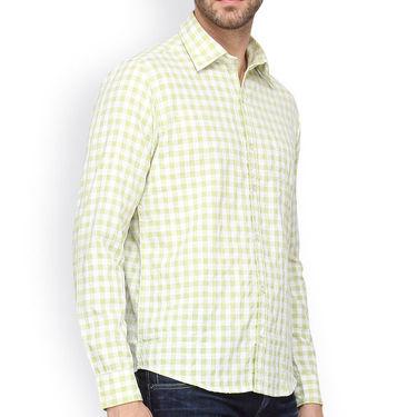 Crosscreek Full Sleeves Cotton Casual Shirt_301 - Green