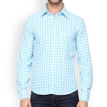 Crosscreek Full Sleeves Cotton Casual Shirt_303 - Blue
