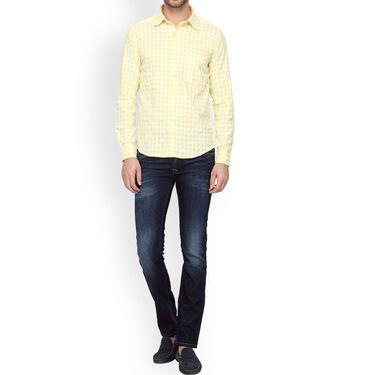 Crosscreek Full Sleeves Cotton Casual Shirt_305 - Yellow