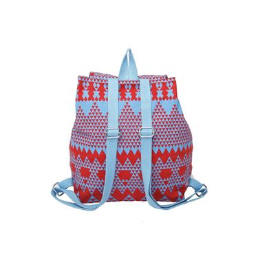 Be For Bag Canvas Backpack Red -Adella