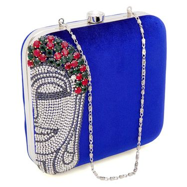 Arisha Velvet Sling Bag AE18a  -Blue