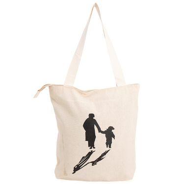 Arisha Cotton Khadi Handbag AE40i -Cream