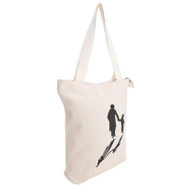 Arisha Cotton Khadi Handbag AE40m -Cream