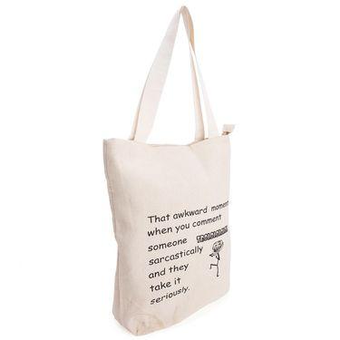 Arisha Cotton Khadi Handbag AE40v -Cream