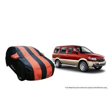 Autofurnish Stylish Orange Stripe Car Body Cover For Chevrolet Tavera  -AF21148