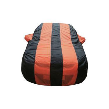 Autofurnish Stylish Orange Stripe Car Body Cover For Volkswagen Polo Cross -AF21149