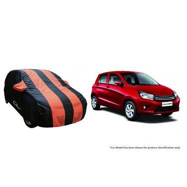 Autofurnish Stylish Orange Stripe Car Body Cover For Maruti Alto 800 -AF21154