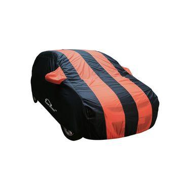 Autofurnish Stylish Orange Stripe Car Body Cover For Honda Brio  -AF21187
