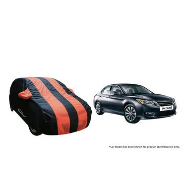 Autofurnish Stylish Orange Stripe Car Body Cover For Honda Accord  -AF21190