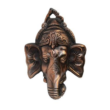 eCraftIndia Metal Wall Hanging of Lord Ganesha-AGG526