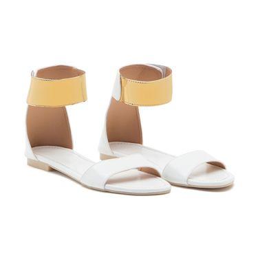 Aleta Synthetic Leather Womens Flats Alwf0116-White