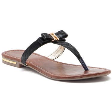 Aleta Synthetic Leather Womens Flats Alwf0316-Black
