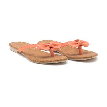 Aleta Synthetic Leather Womens Flats Alwf0416-Orange