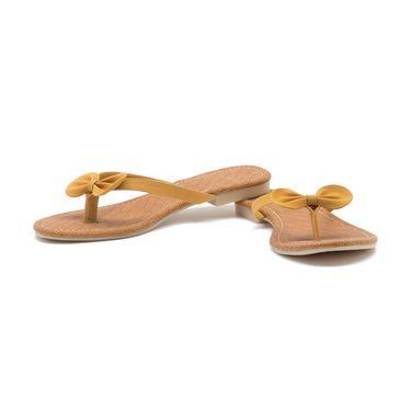 Aleta Synthetic Leather Womens Flats Alwf0416-Yellow