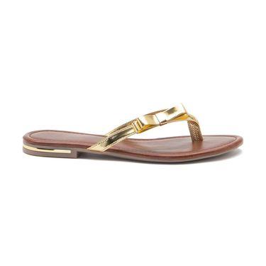 Aleta Synthetic Leather Womens Flats Alwf0516-Gold