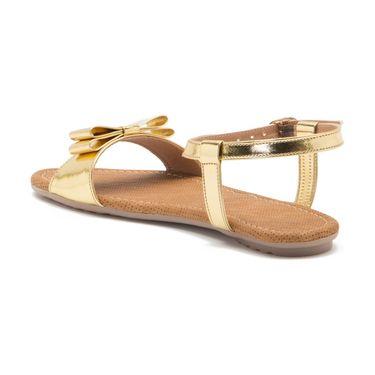 Aleta Synthetic Leather Womens Flats Alwf0616-Gold