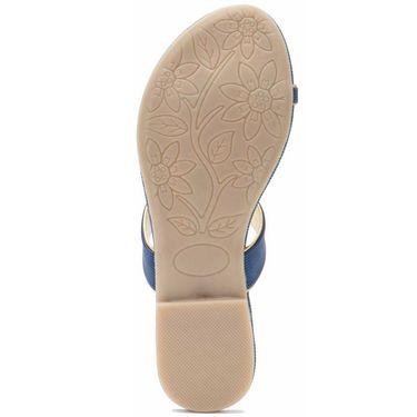 Aleta Synthetic Leather Womens Flats Alwf1316-Blue