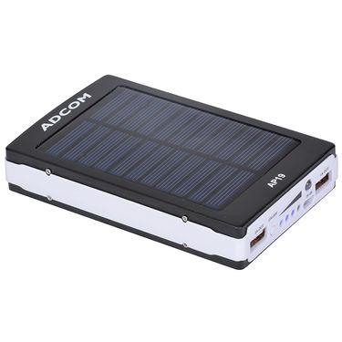 Adcom AP19 11000mAh Solar Power Bank - Blue