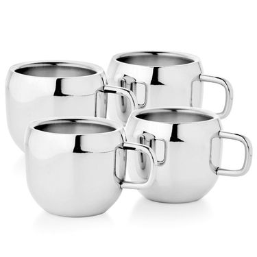 Aoito Double Wall Apple Set of 4 Stainless Steel Mug_APP-AO-4