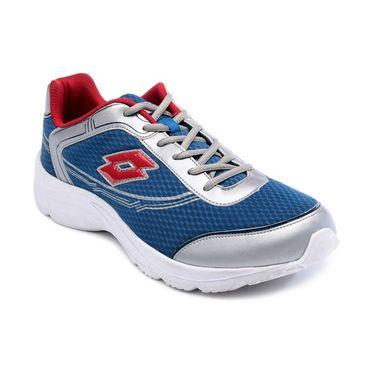 Lotto Mesh Sports Shoes AR2932 -Sea Blue & Silver