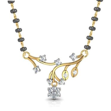 Avsar Real Gold & Swarovski Stone Kolhapur Mangalsutra_Avm067yb