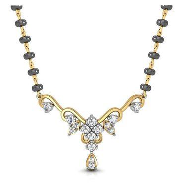 Avsar Real Gold & Swarovski Stone Sonali Mangalsutra_Avm068yb
