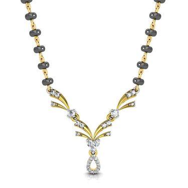 Avsar Real Gold & Swarovski Stone Nagpur Mangalsutra_Avm076yb